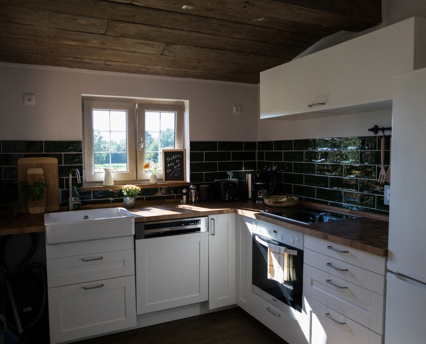 Küche | Lytte Hytte | Ferienhaus Wingst