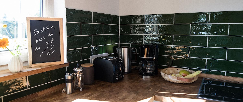 Küche und Küchenmaschinen | Lytte Hytte | Ferienhaus Wingst