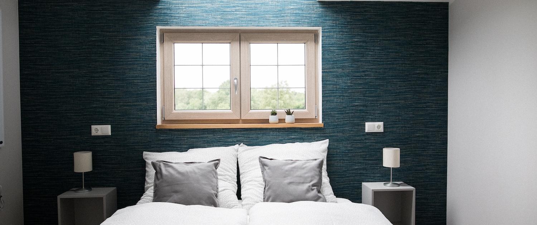 Schlafzimmer Bett | Lytte Hytte | Ferienhaus Wingst